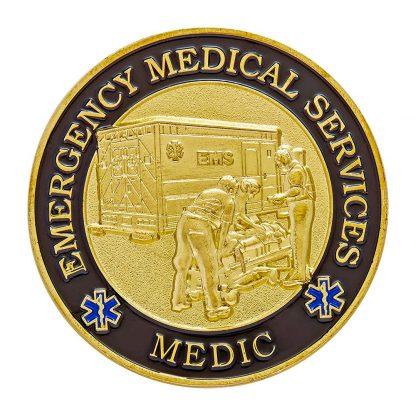 emergency medical services medic challenge coin prayer-1